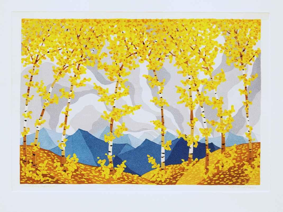 Gray Sky, Aspen Gold by  Kathy Bonnema Leslie - Masterpiece Online