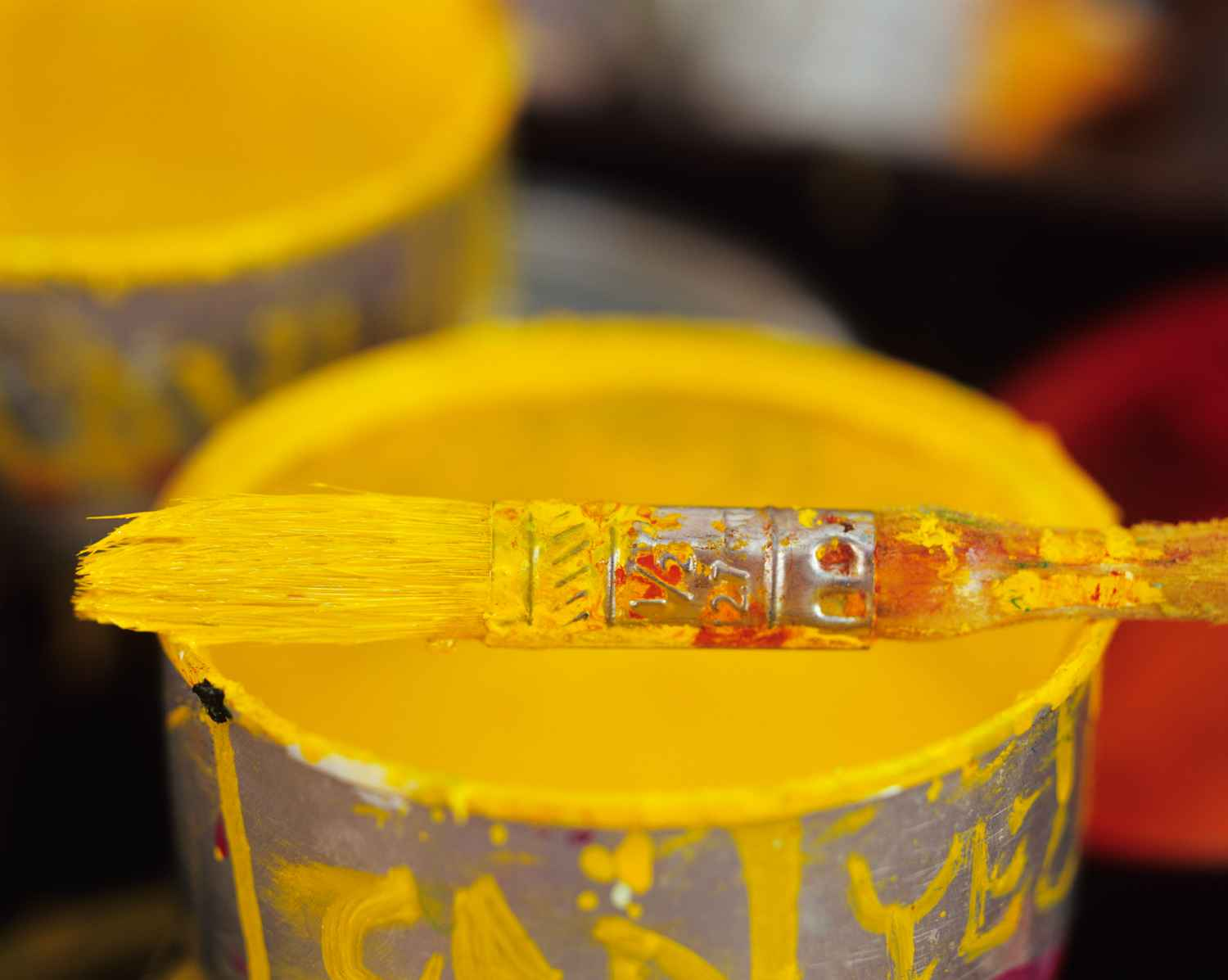 Yellow Paint and Brus... by  Alison Shaw - Masterpiece Online