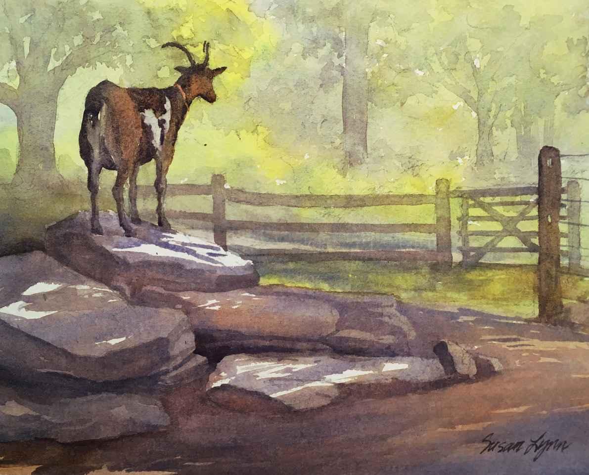 Stevie the Goat by  Susan Lynn - Masterpiece Online
