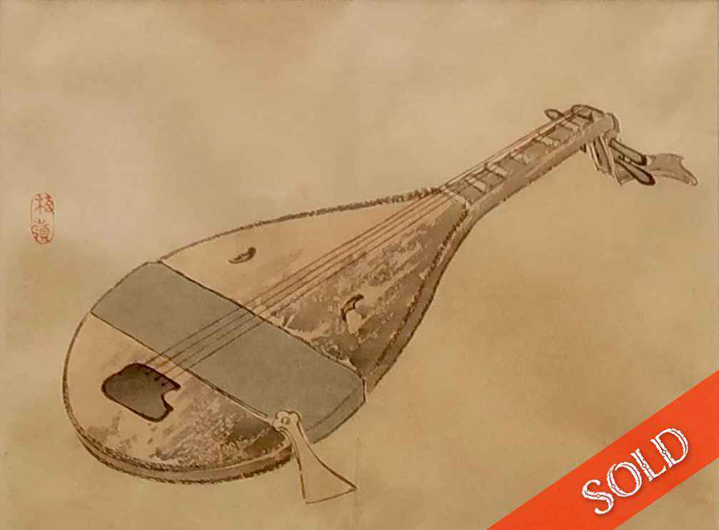 Japanese Lute by  Unknown Unknown - Masterpiece Online
