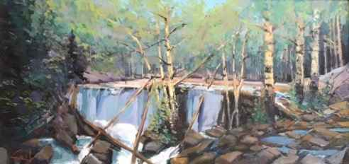 Aspen Falls by  George Coll - Masterpiece Online