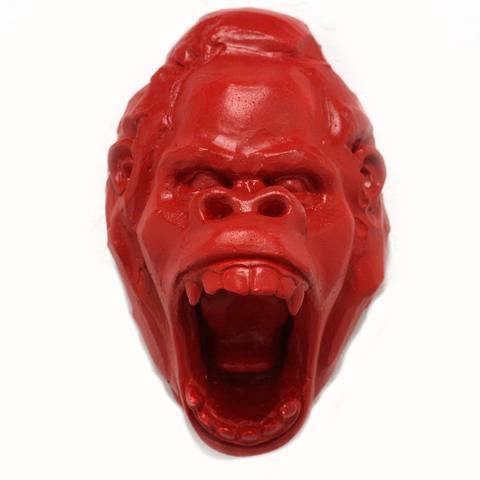 Gorilla Head (Red) by  Laurence Vallieres - Masterpiece Online