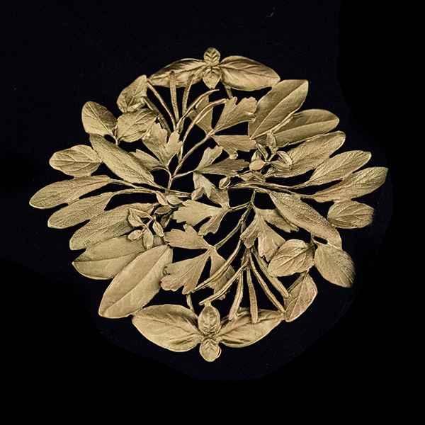 Herb Trivet, Antique Bronze