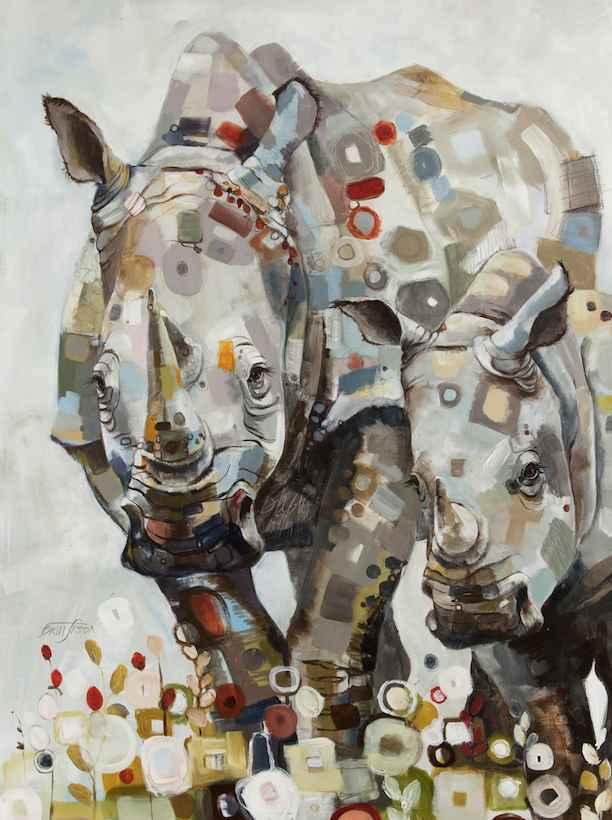 Rhinos: Black and Whi... by  Britt Freda - Masterpiece Online