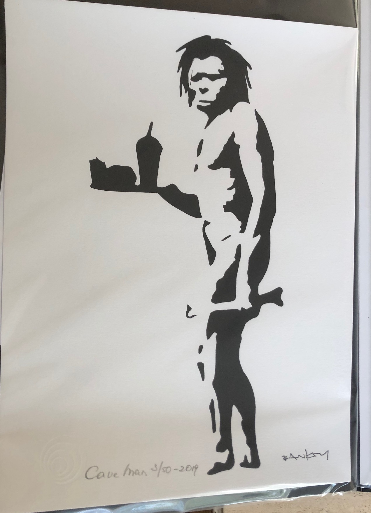 Cave Man by   Banksy - Masterpiece Online
