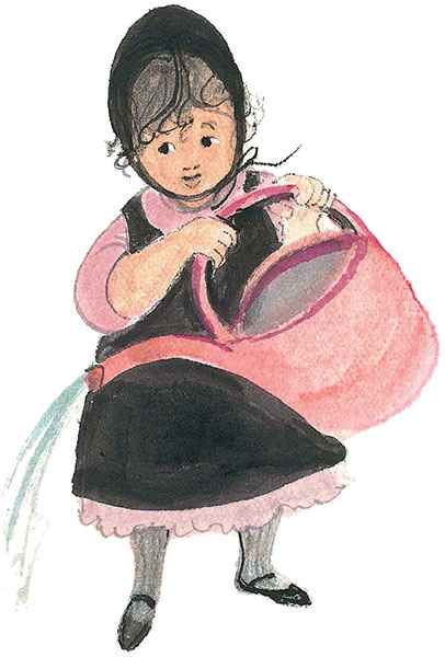 DP-Pink Watering Can by  P. Buckley Moss  - Masterpiece Online