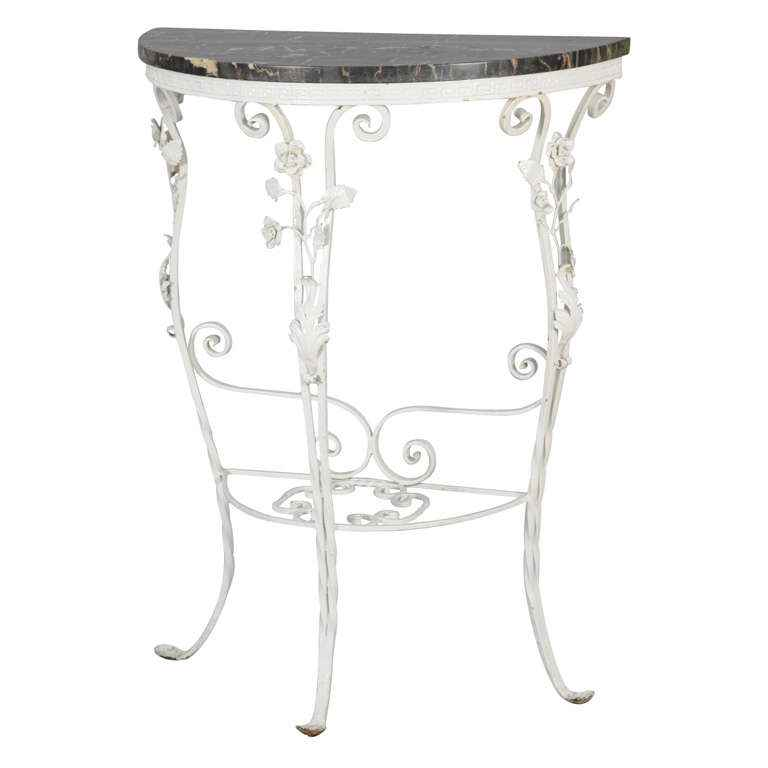 Iron Demilune Console... by  Italian  - Masterpiece Online