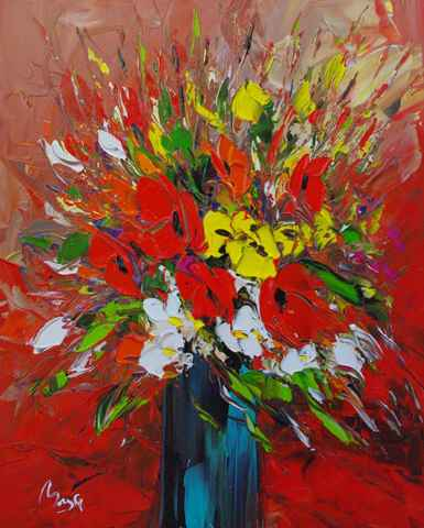 Bright Bouquet by  Louis  Magre - Masterpiece Online