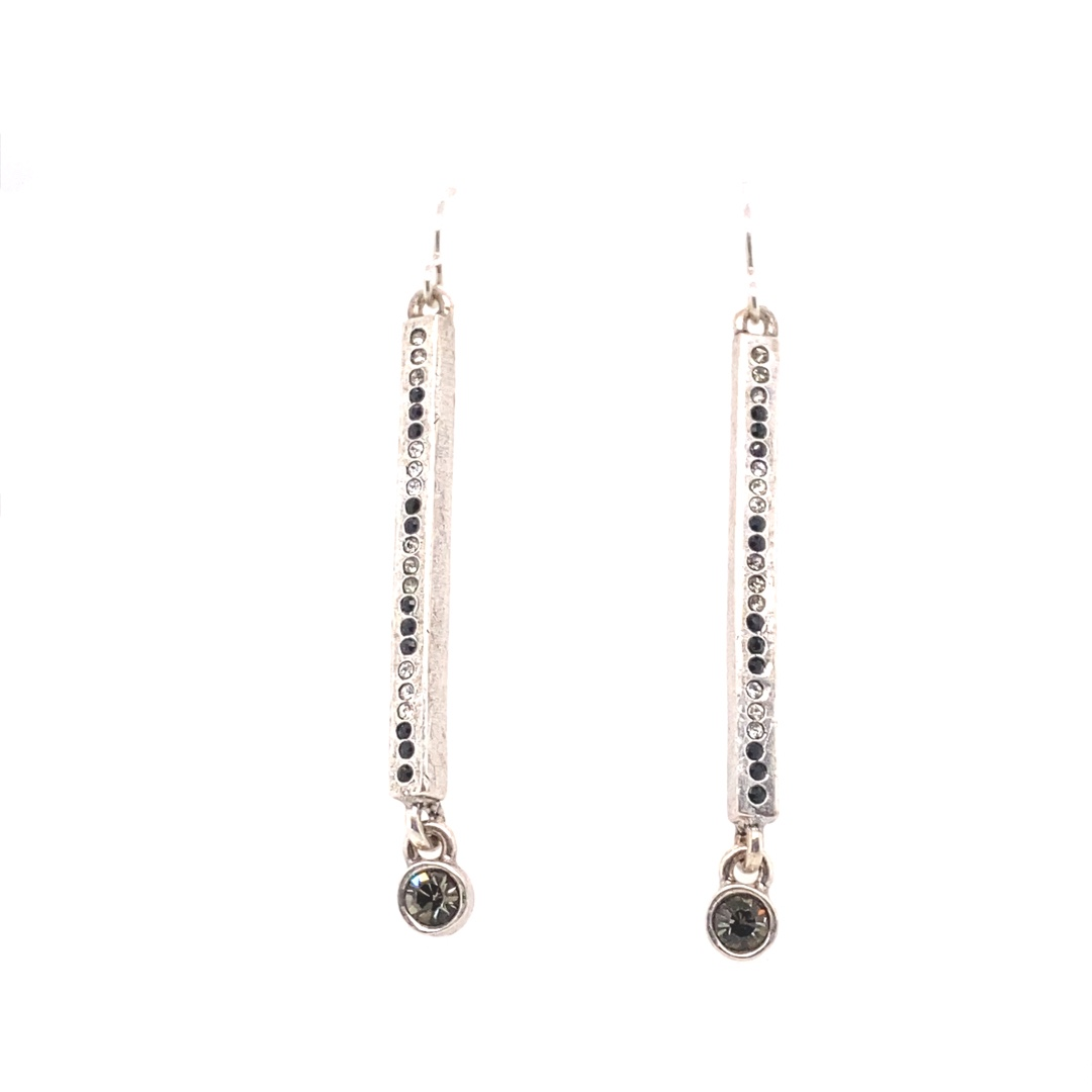 Axis Earrings in Silver, Black & White