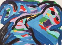 Floating in a Landsca... by  Karel Appel - Masterpiece Online