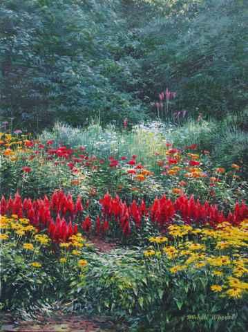 Garden with Celasia  by  Michael Wheeler