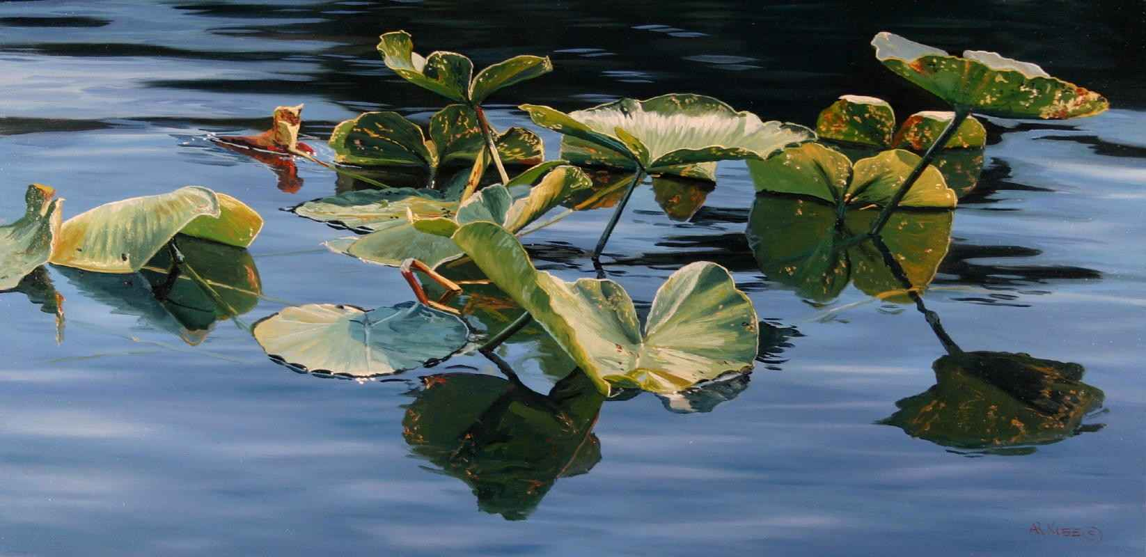 Pond Lilies by  Andrew Kiss - Masterpiece Online