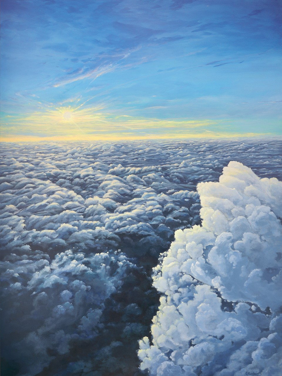 Rising Above the Clou... by  Sue Godwin - Masterpiece Online