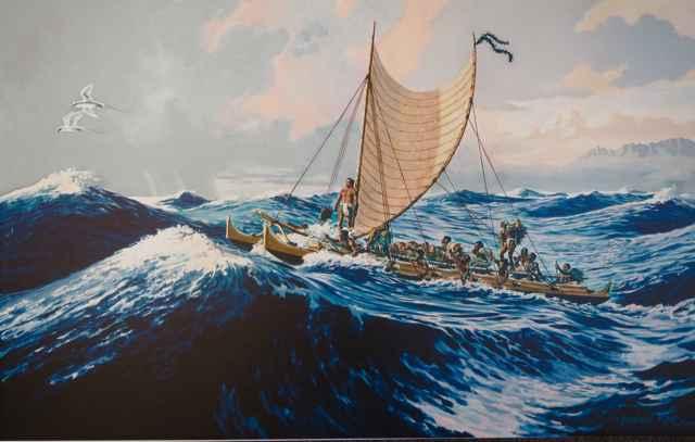 Crossing Molokai by  Herb Kawainui Kane (1928-2011) - Masterpiece Online