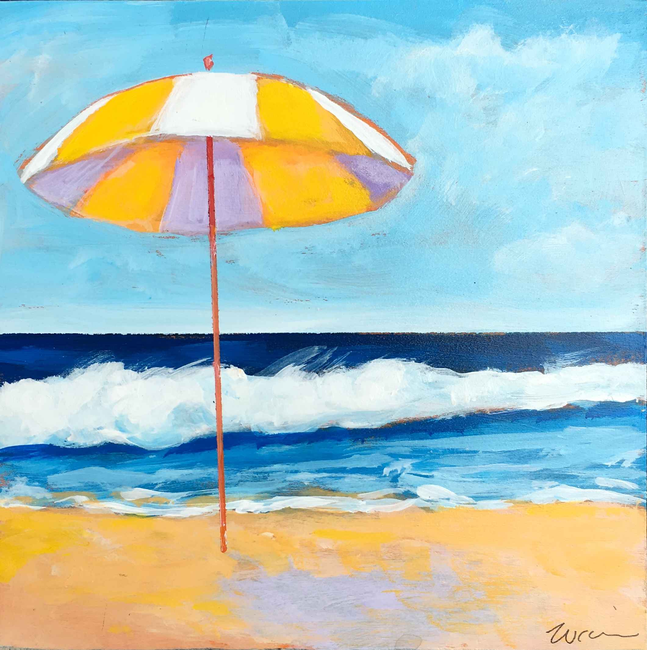 Yellow and White Beac... by  Kate Winn - Masterpiece Online