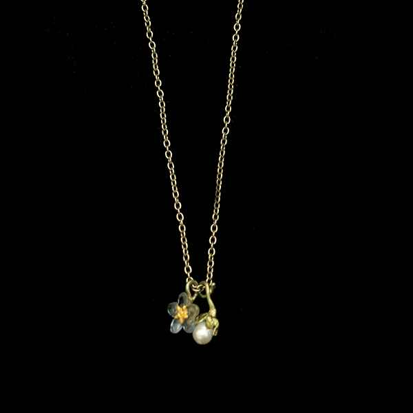Forget Me Not Pendant with Pearl 16