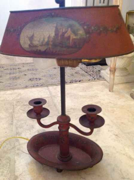 Oval Bouillotte Lamp by  French  - Masterpiece Online