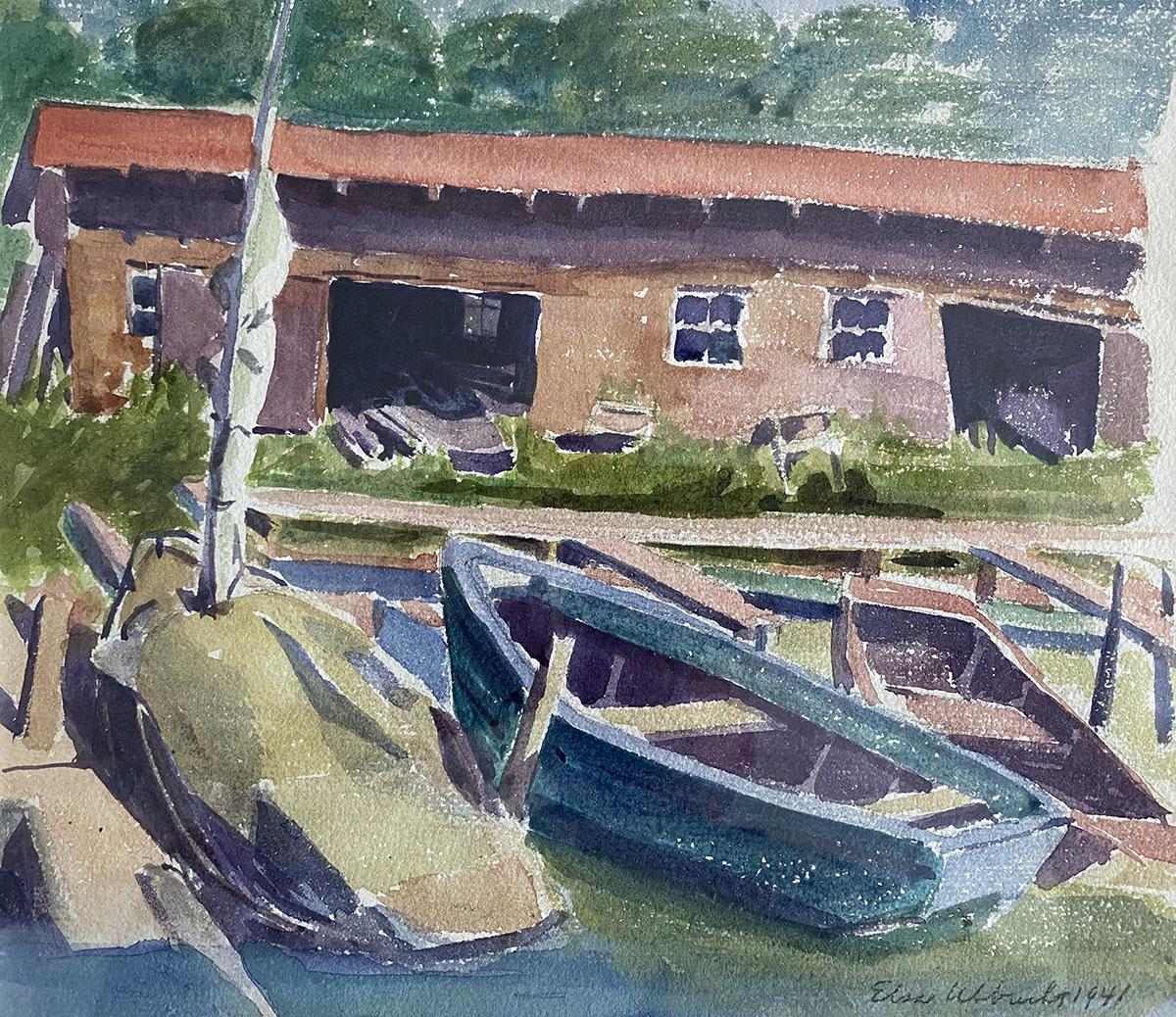 Boats at Rest (Saugat... by Ms. Elsa Ulbricht - Masterpiece Online