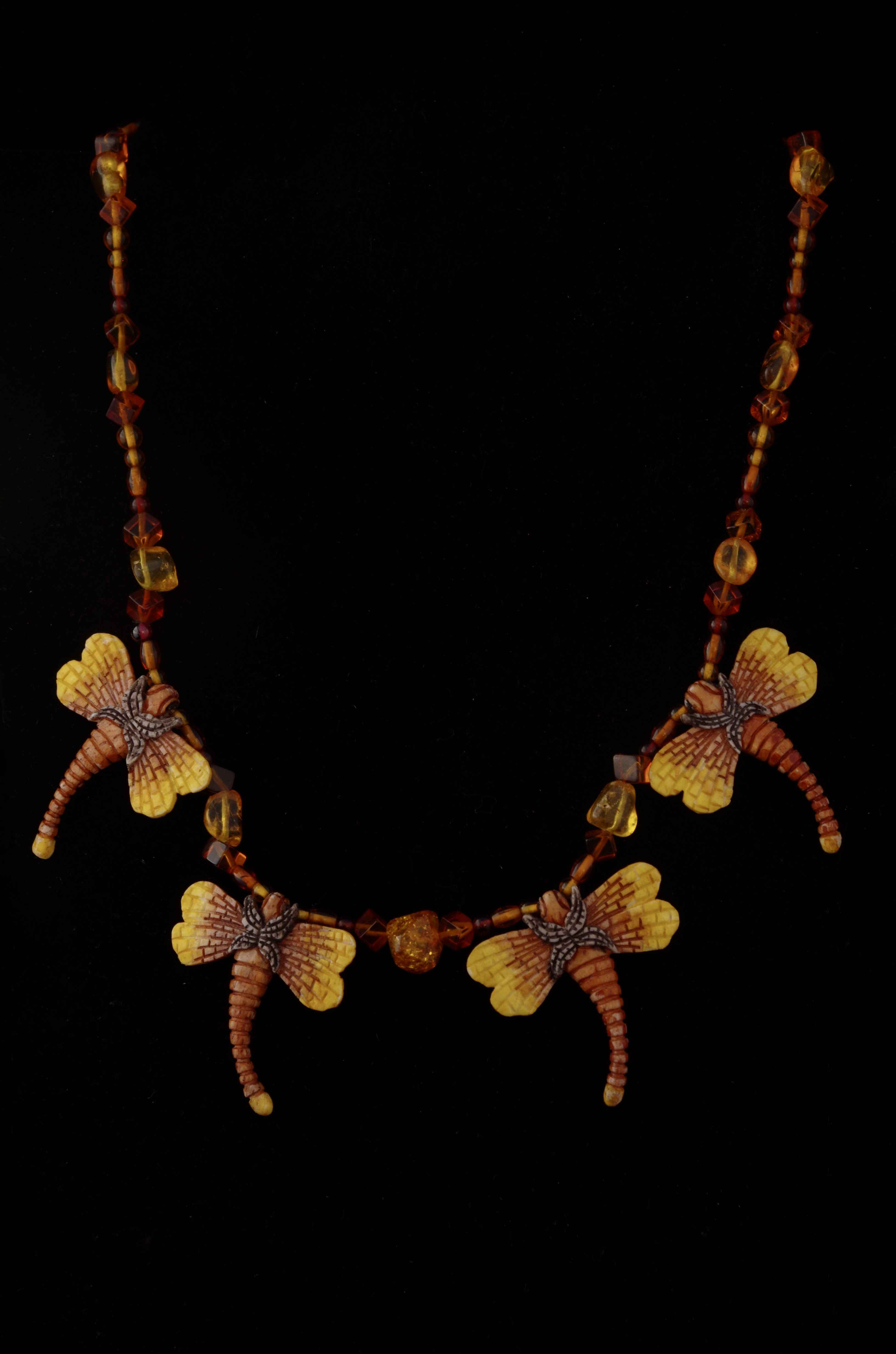Dragonflies Necklace  by  Susan Tereba - Masterpiece Online