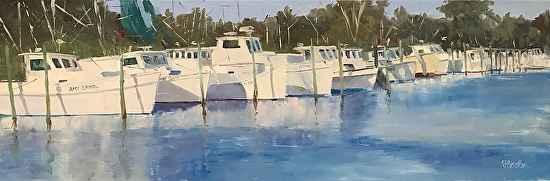 Atlantic Harbor Lineup by  Steve Hessler - Masterpiece Online