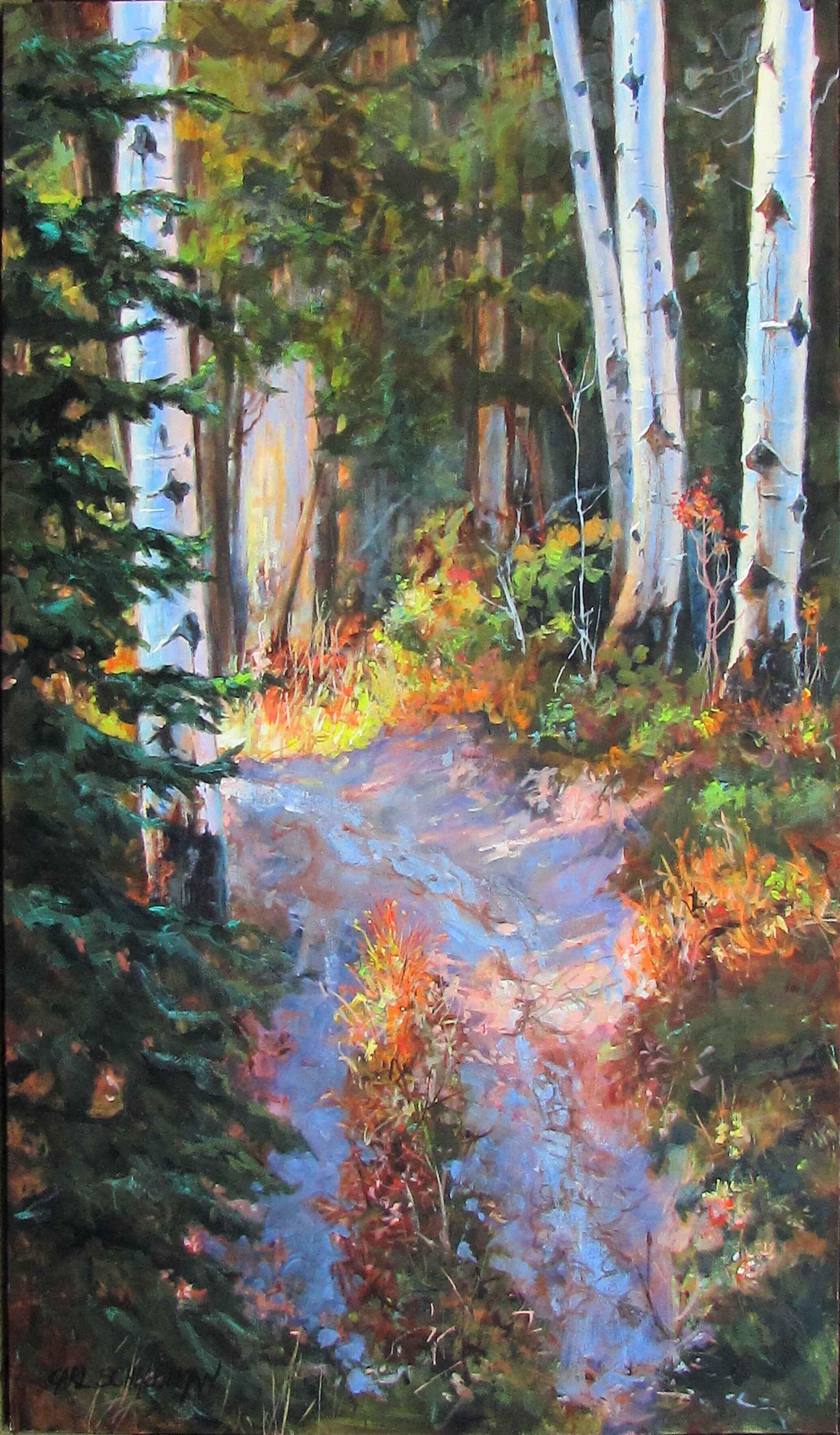 Autumn Leaves Start t... by  Carl Schlademan - Masterpiece Online