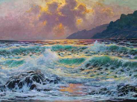 Golden Sunset, Big Sur  by  A Dzigurski II
