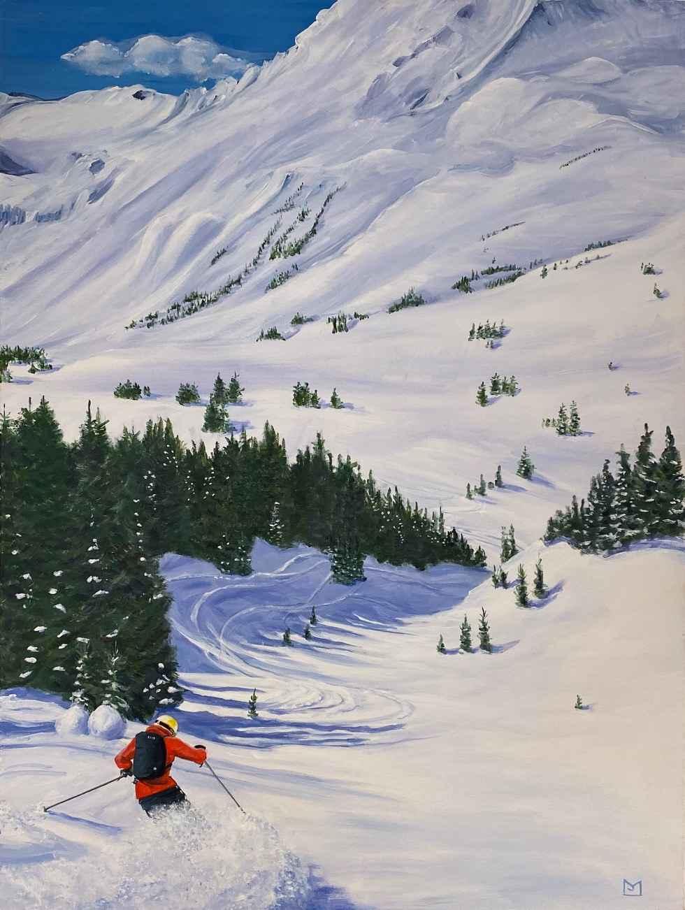 Valley In Fernie by  M.J. Jones - Masterpiece Online