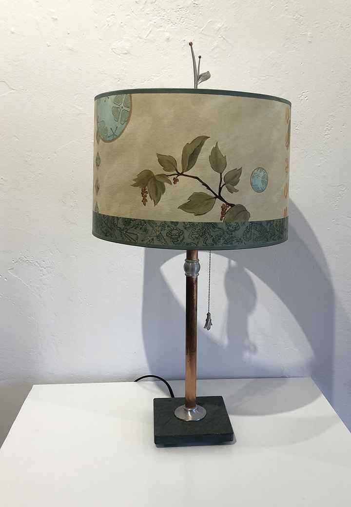 Celestial Leaf Table Lamp, Giclee Shade