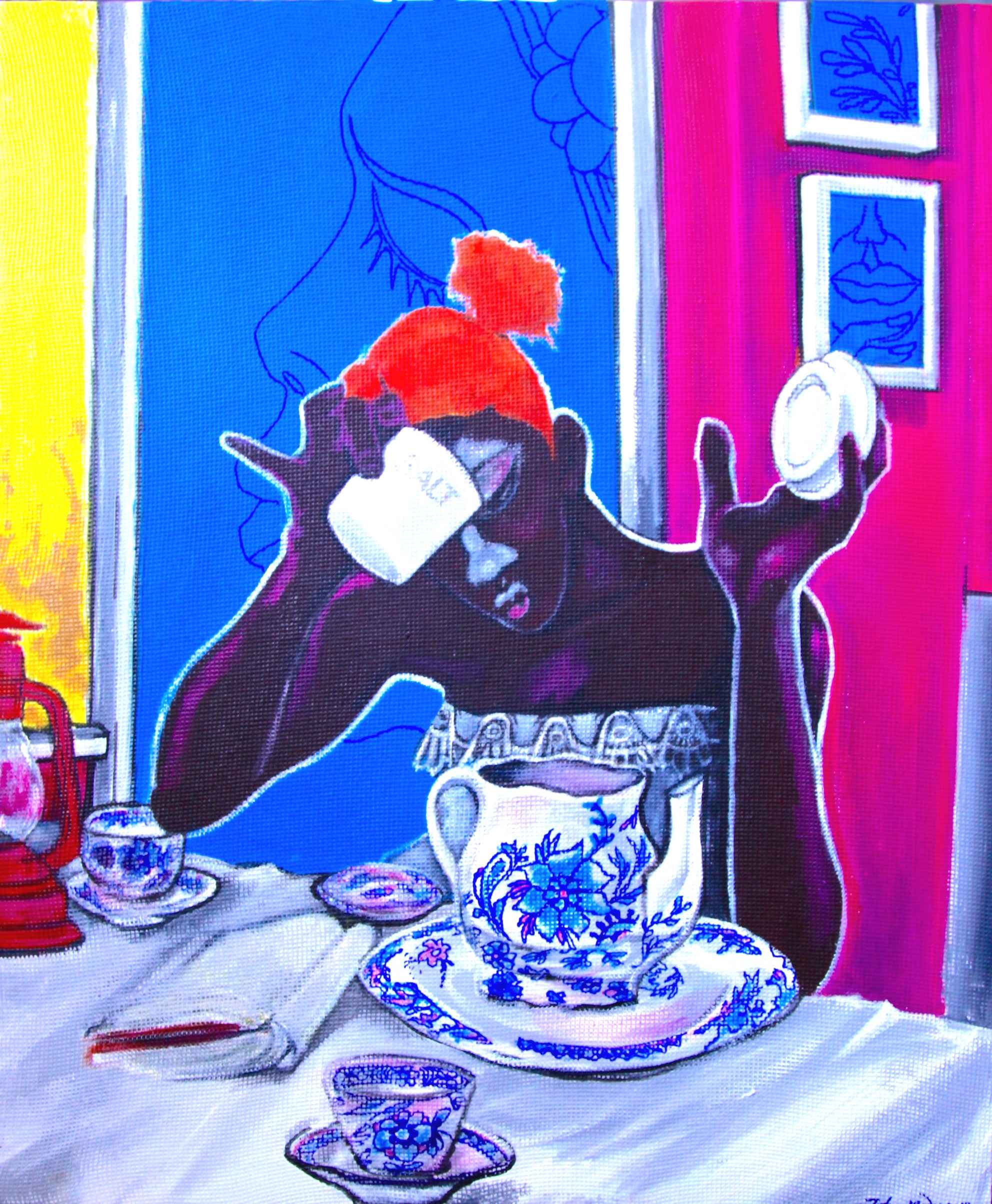 Becoming 1 (Tea Party) by Mr John Madu - Masterpiece Online