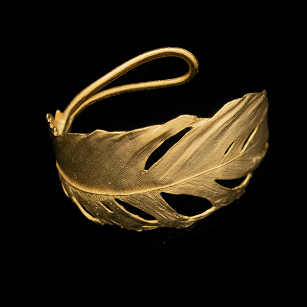 Feather Gold Cuff