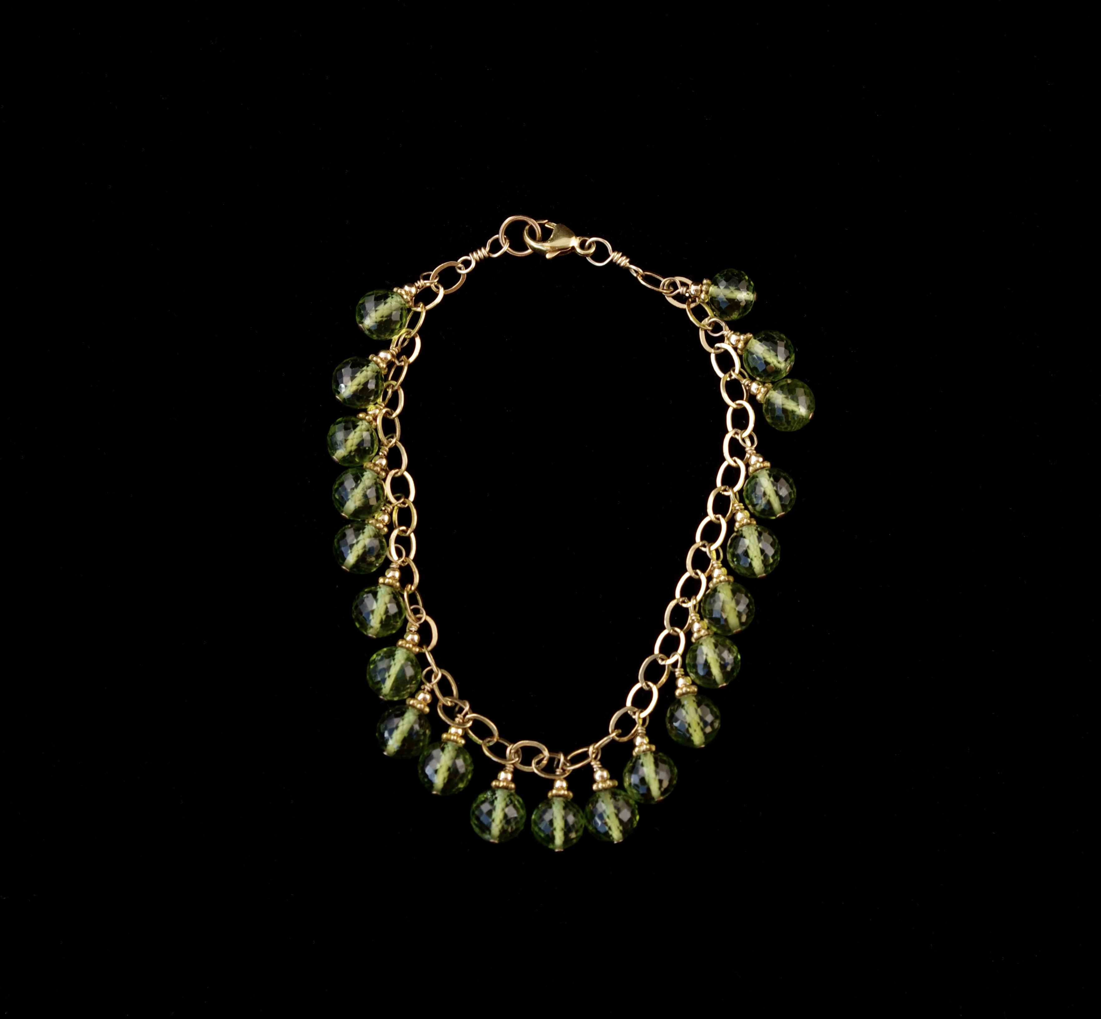 Peridot Dangle Bracel... by  Paula Nurse - Masterpiece Online