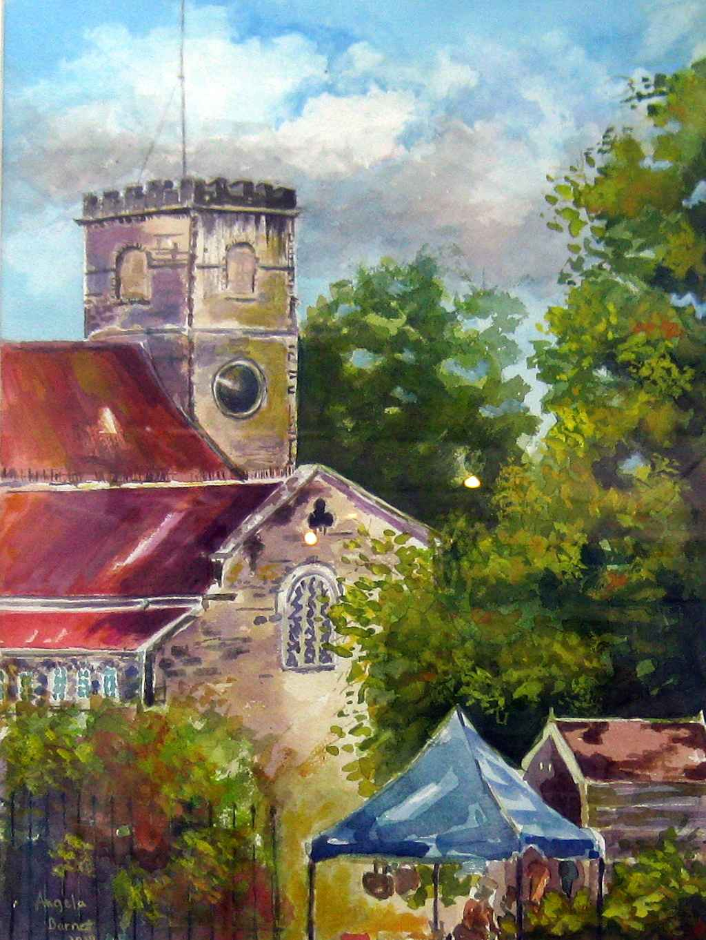 St Michael's Cathedral by Mrs Angela Barnett - Masterpiece Online
