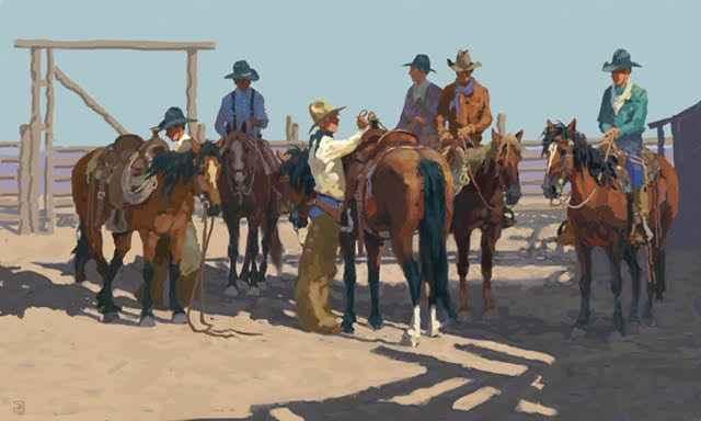 Saddling Up by  Jim Rey - Masterpiece Online