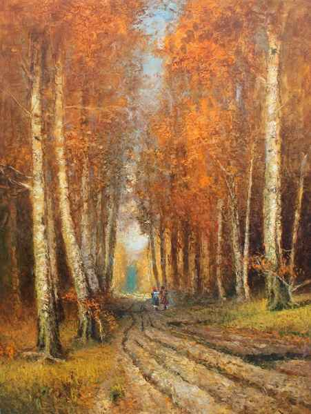 Fall Road by  Vladimir  Nasonov  - Masterpiece Online