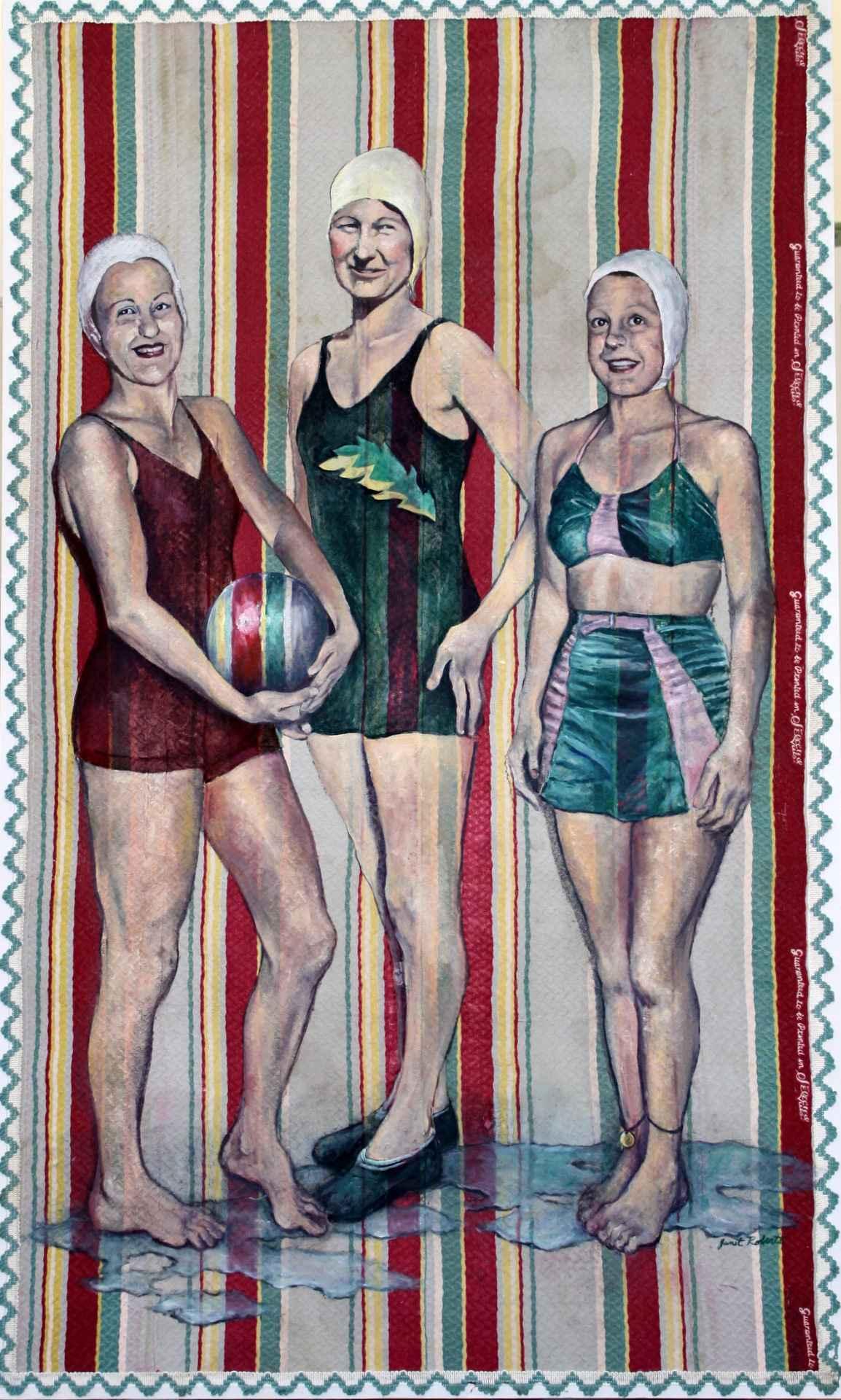 Girl's Swim Team by  Janet Roberts - Masterpiece Online