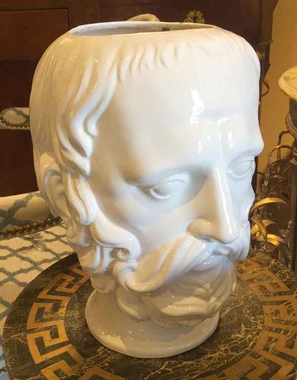 Two Headed Ceramic Va... by  Italian  - Masterpiece Online