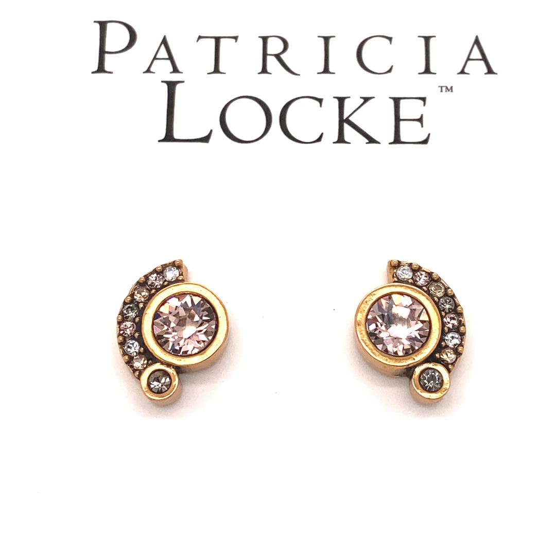 Zsa Zsa Earrings in Gold, Champagne