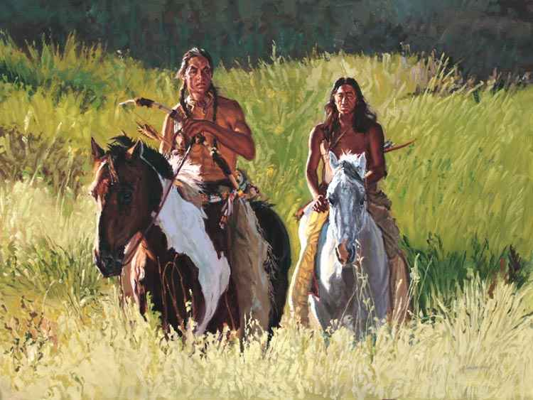 SOLD- Searchers by  Glen Edwards - Masterpiece Online