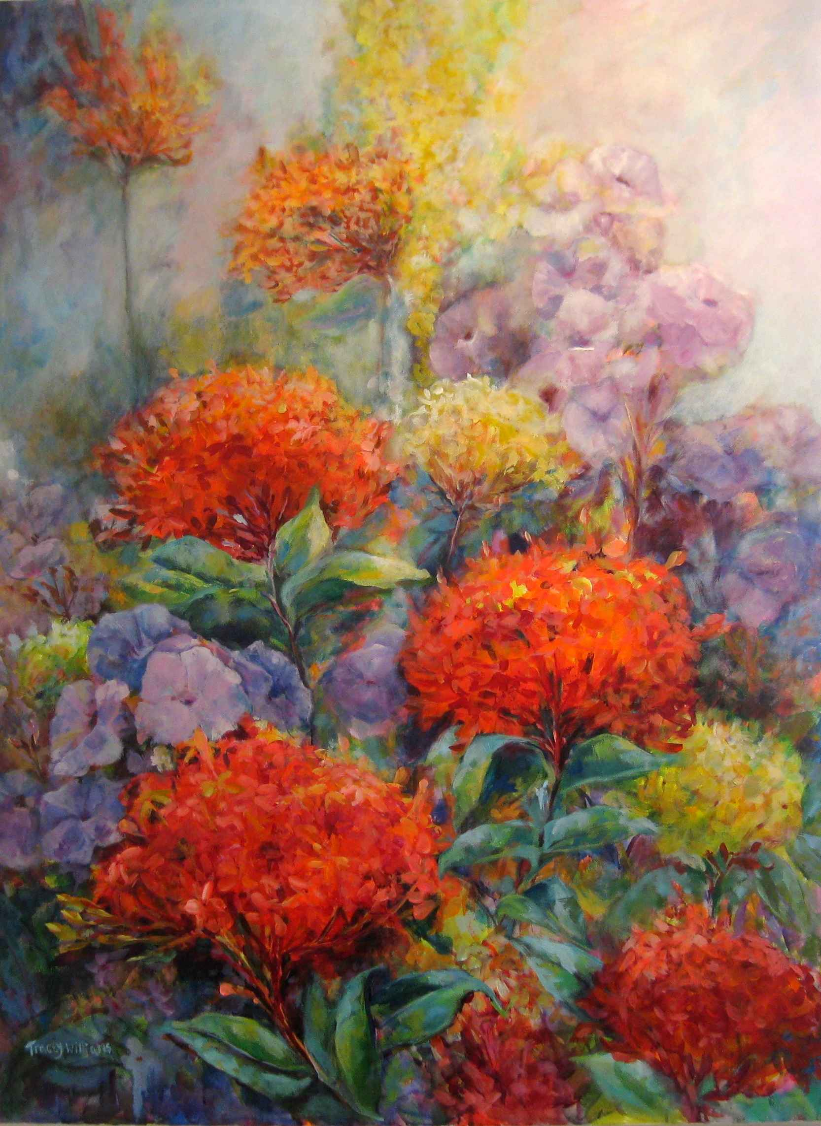 Ixora and Morning Glo... by Ms. Tracey Williams - Masterpiece Online