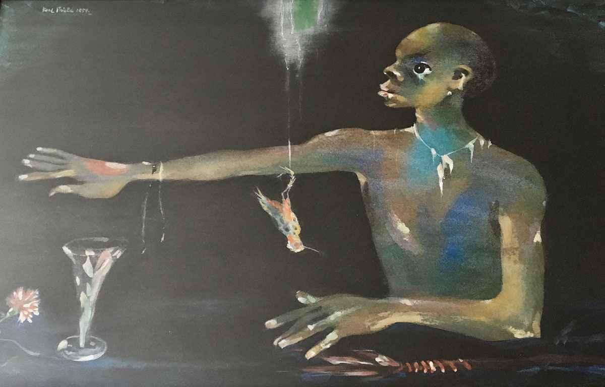 Untitled - Man at Bar... by Mr. Karl Priebe - Masterpiece Online