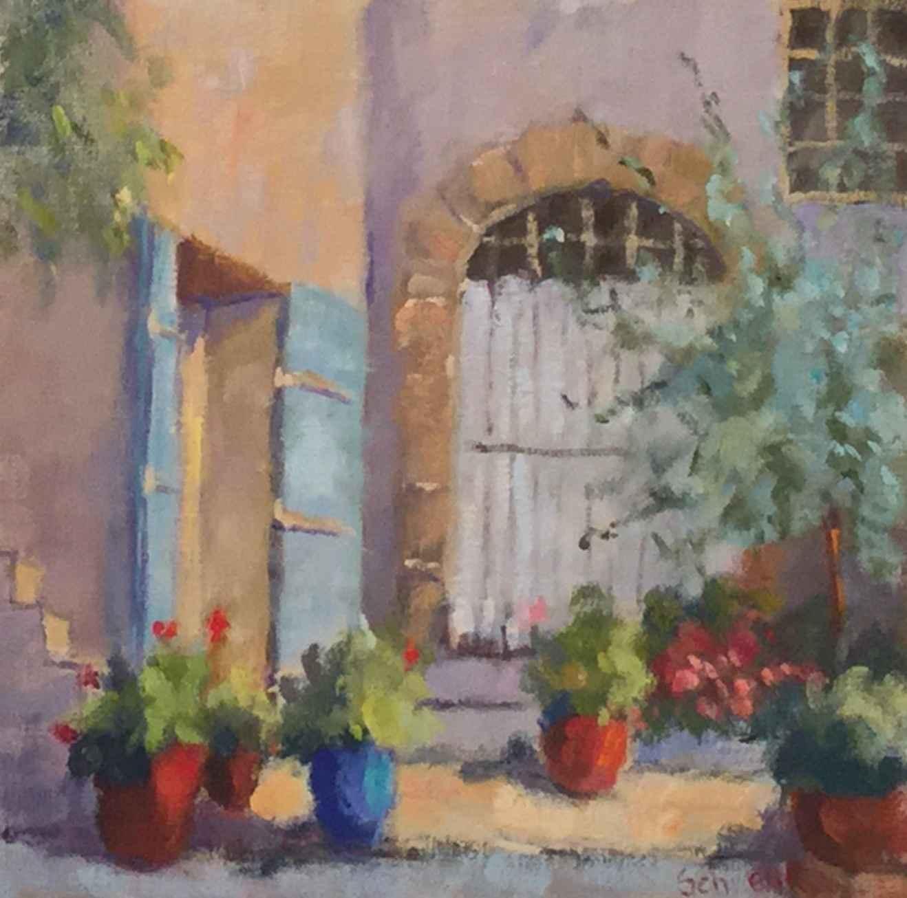 Simple Courtyard Gard... by  Sharon Schwenk - Masterpiece Online