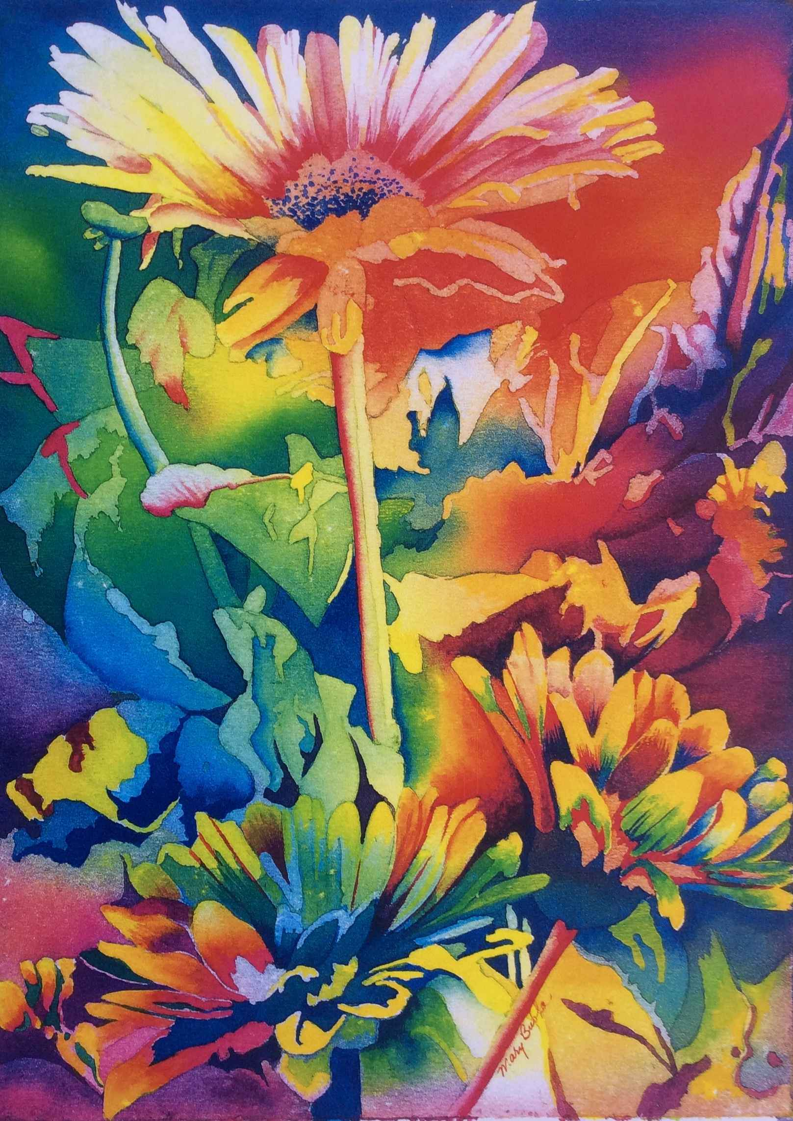 Gerbera Daisies by  Mary Bubla - Masterpiece Online