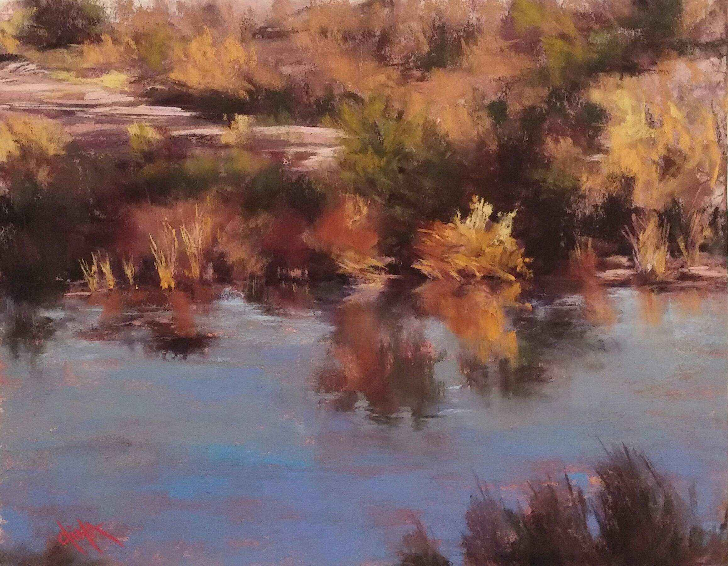 Evening Glow on the L... by Mrs Dina Gregory - Masterpiece Online