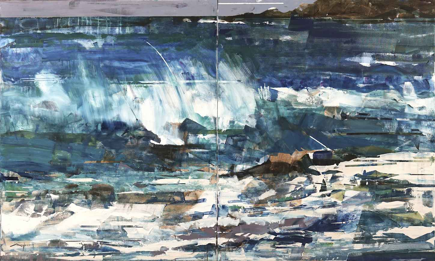 Wave (diptych) by Mr. Michael Azgour - Masterpiece Online