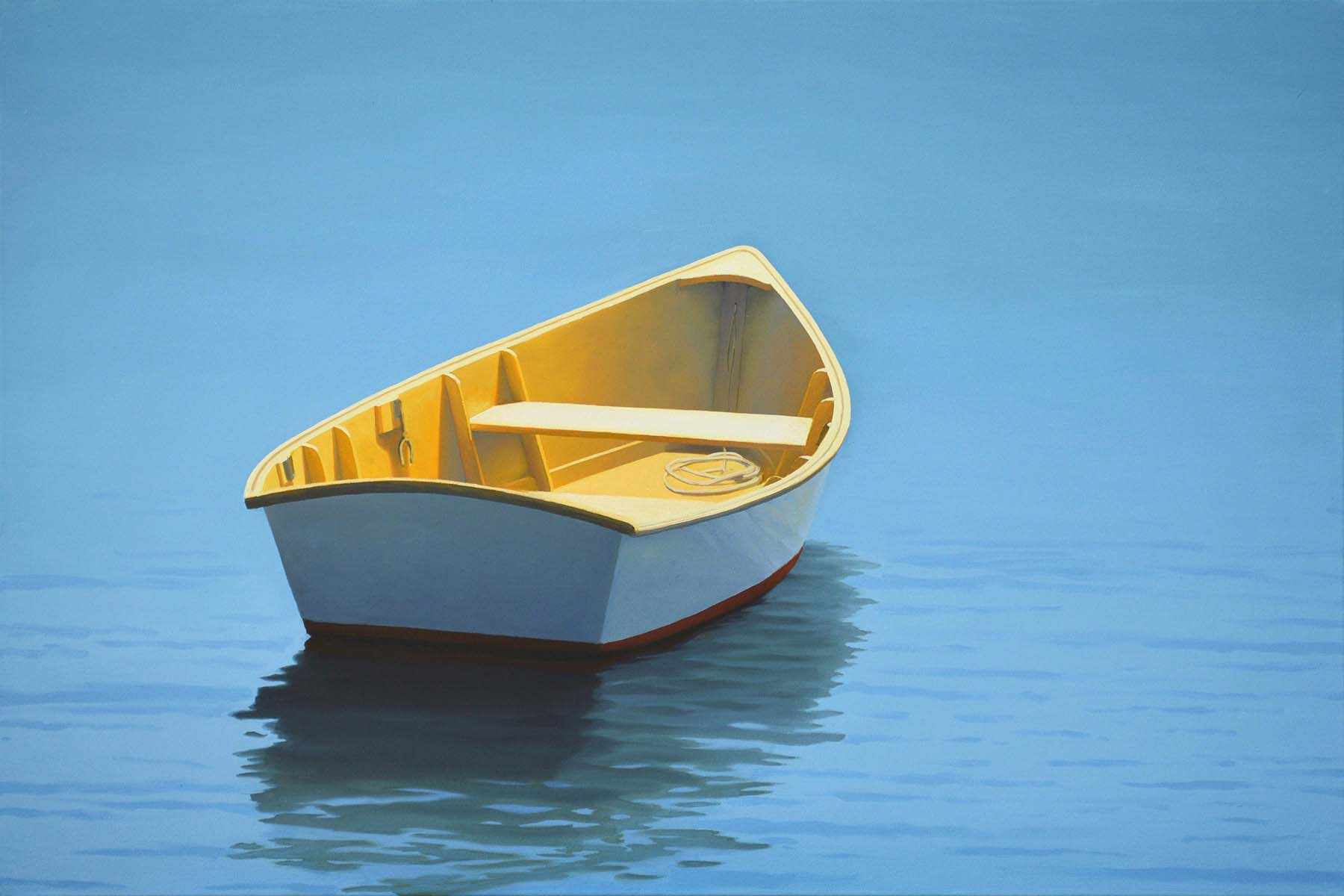 Yellow Dinghy by  Jim Holland - Masterpiece Online