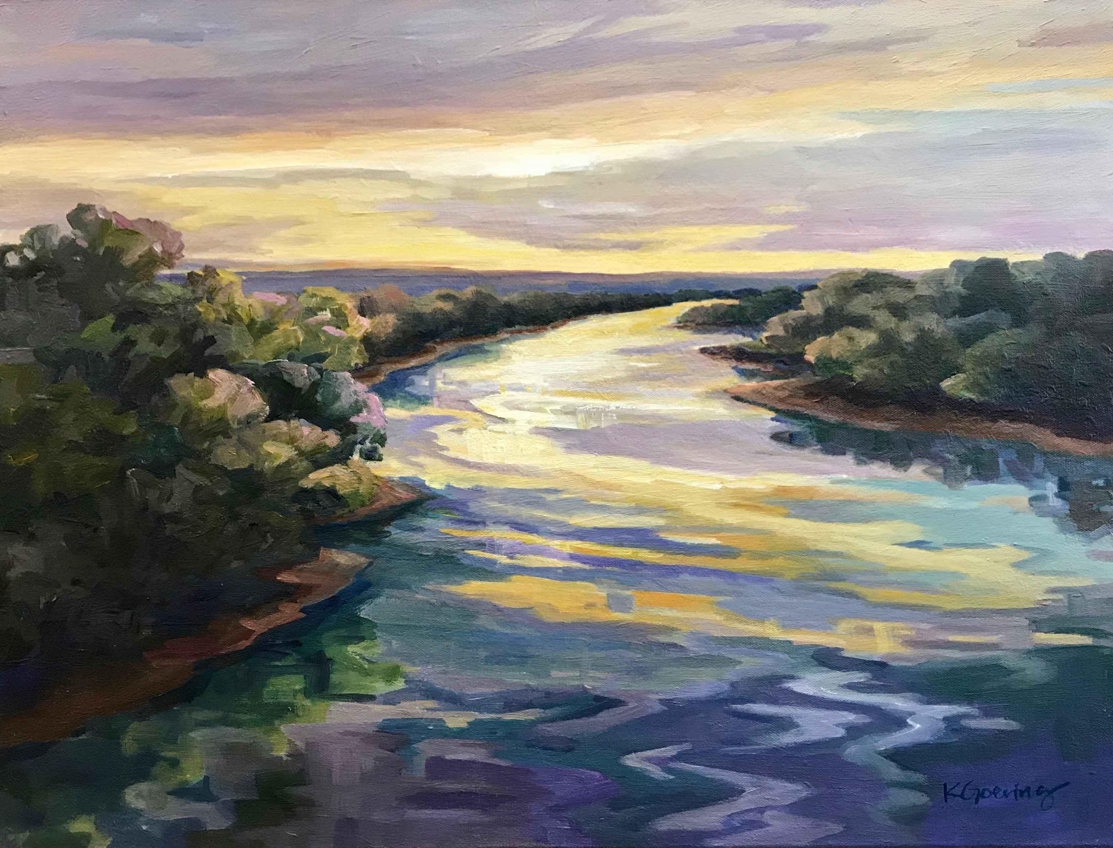 Little Blue Twilight by  Kristin Goering - Masterpiece Online