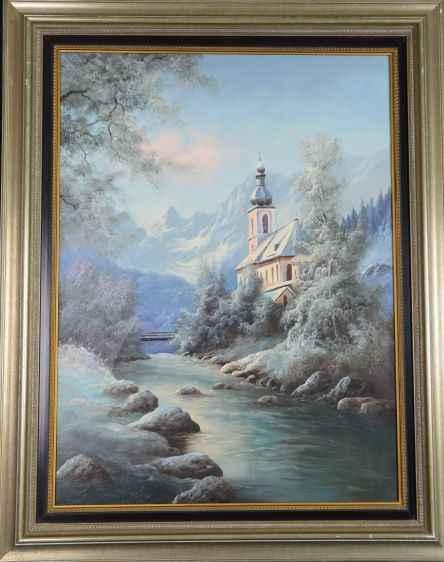 Ramsau Church  by  H Landrock
