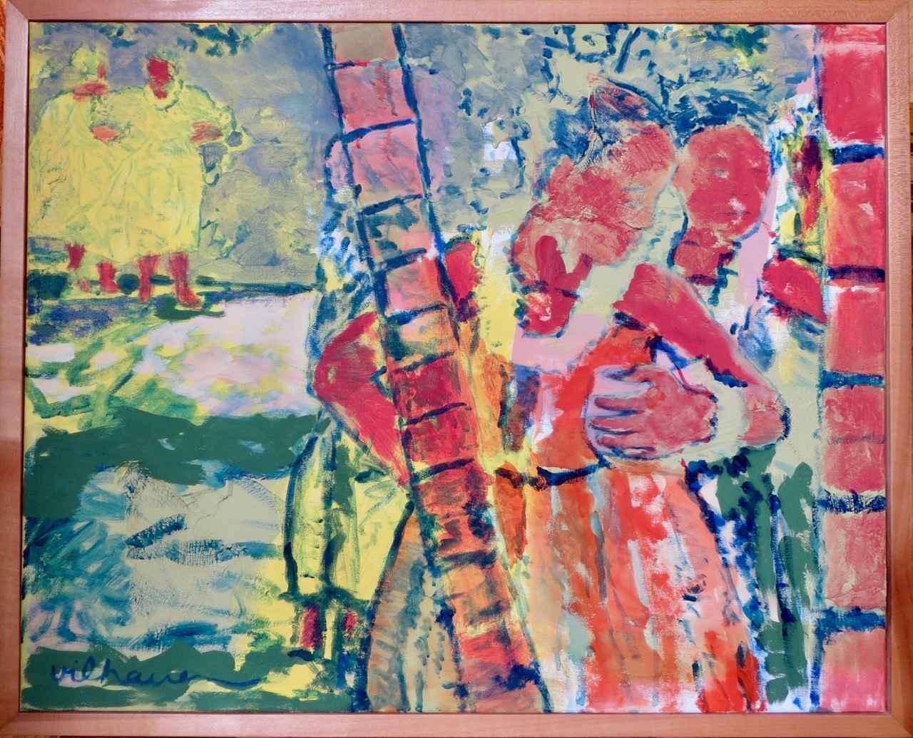 Hawaiian Couple by  Nancy Vilhauer - Masterpiece Online