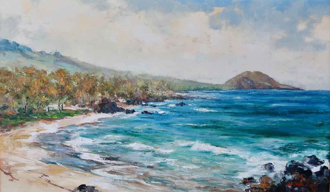 Palauea Beach, South ... by  Hajime Okuda (1906-1992) - Masterpiece Online