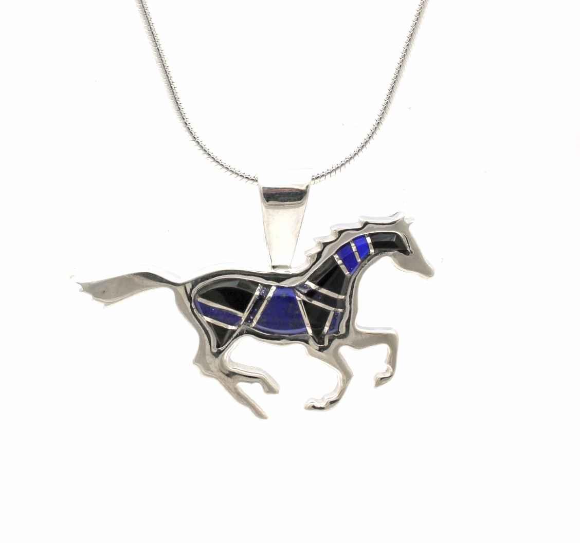 Small Running Horse P... by  Ben Nighthorse - Masterpiece Online